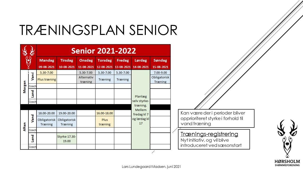 Træningsplan Senior